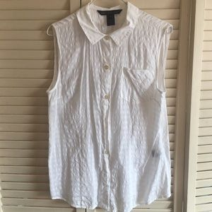 Marc by Marc Jacobs white sleeveless top